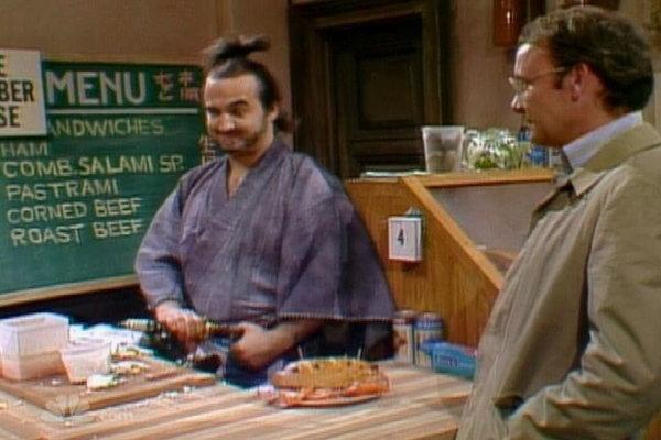 Saturday Night Live: Samurai Delicatessen Clip | Hulu John Belushi Samurai