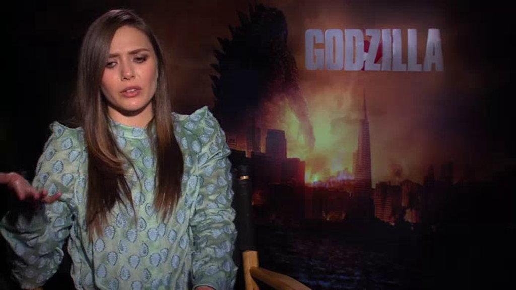 Elizabeth Olsen Aaron Taylor Johnson Godzilla