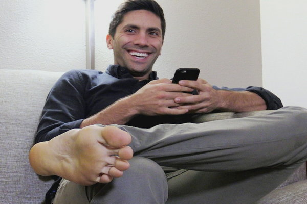 image Straight guys feet on webcam 136